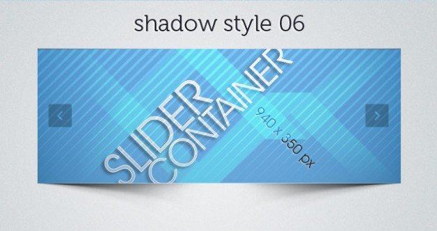web slider psd shadows pack