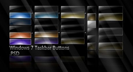 Windows 7 style black cool buttons