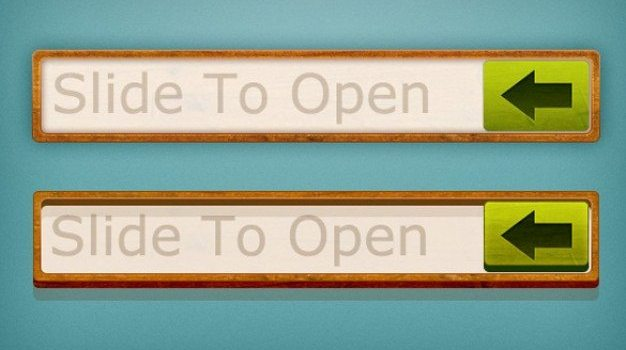 wood frame slide to open buttons