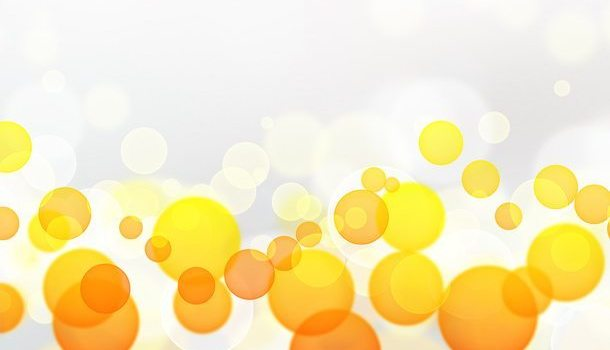 Yellow and orange bokeh background