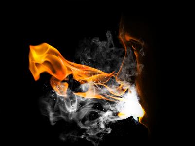 flam10c Create a Fiery Face Explosion
