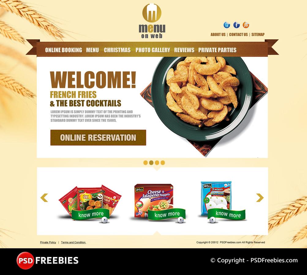 restaurant menu free psd template psdfreebies com psdfreebies com
