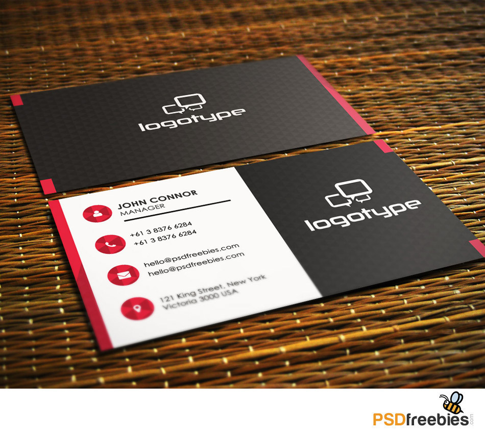 Personal Contact Cards Template