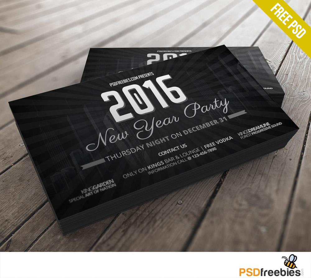 years party invitation card free psd