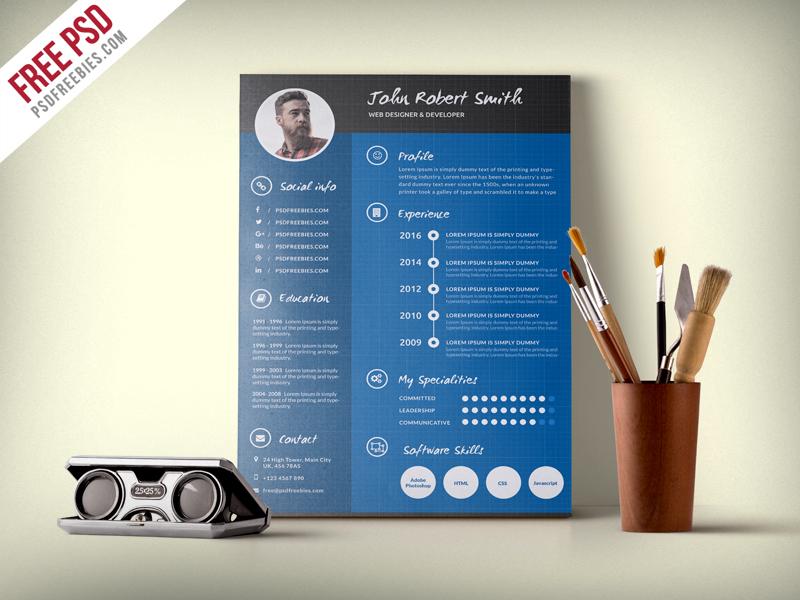 graphic designer resume template psd psdfreebies com psdfreebies