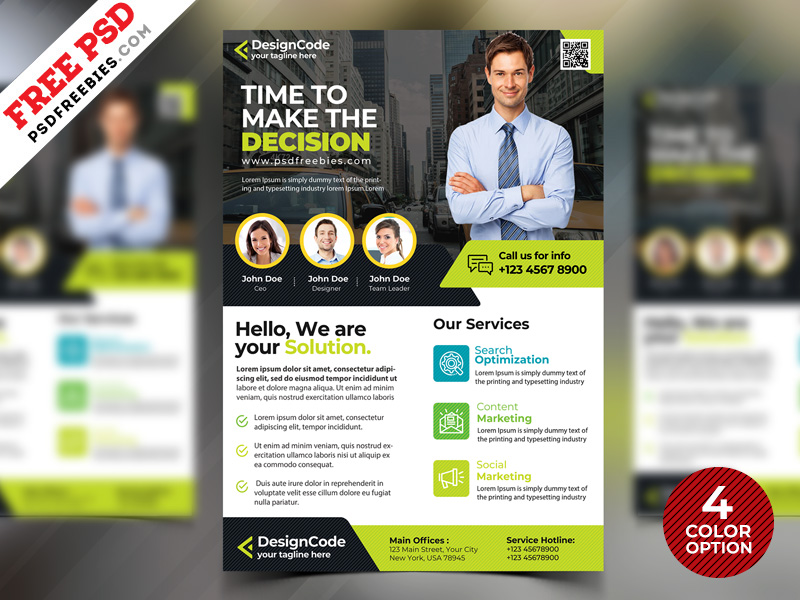 Corporate Flyer Design Templates Free Psd Psdfreebies Com