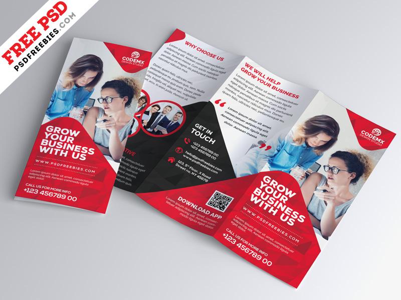 Business Tri Fold Brochure Template Design Psd Psdfreebies Com