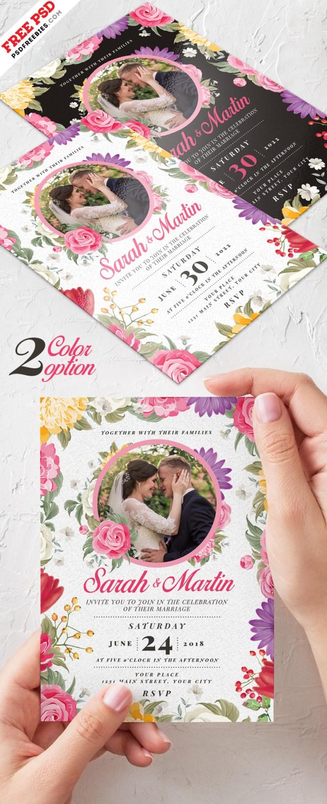 Wedding Invitation Card Design Psd