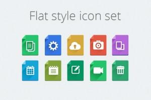Flat Style Icon Set