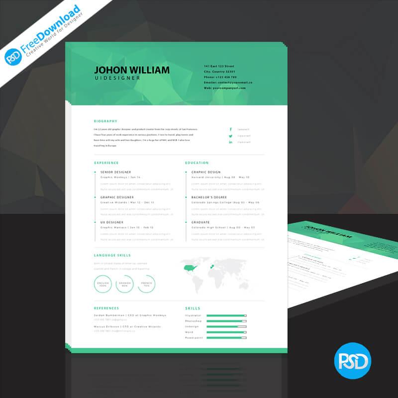 Polygen Style Resume PSD