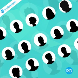 Avatars Circle PSD Free