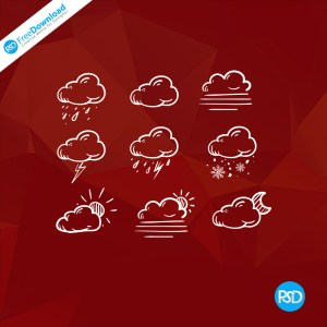 PSD Cloud Icons Free
