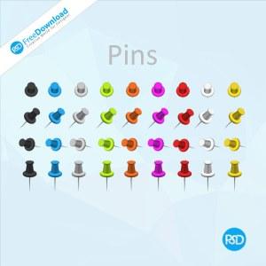 Board Pins PSD Design