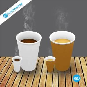 Morden Coffee Cups PSD Design