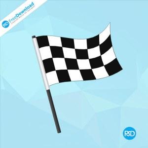 Morden Racing Flag PSD Design