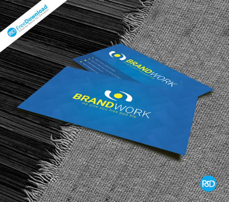 Blue Business Card Free Psd Design - PSD Free Download