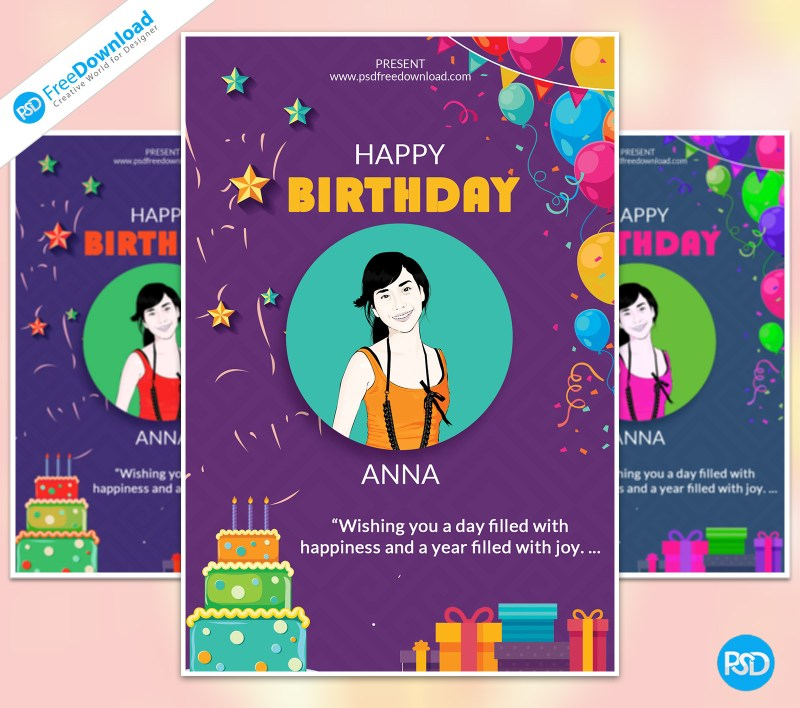 Birthday Wish Flyer Template Psd Free Download