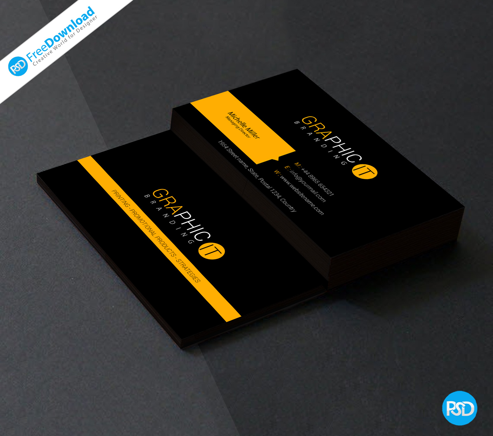 Download FREE business card templates Inside Free Psd Visiting Card Templates Download