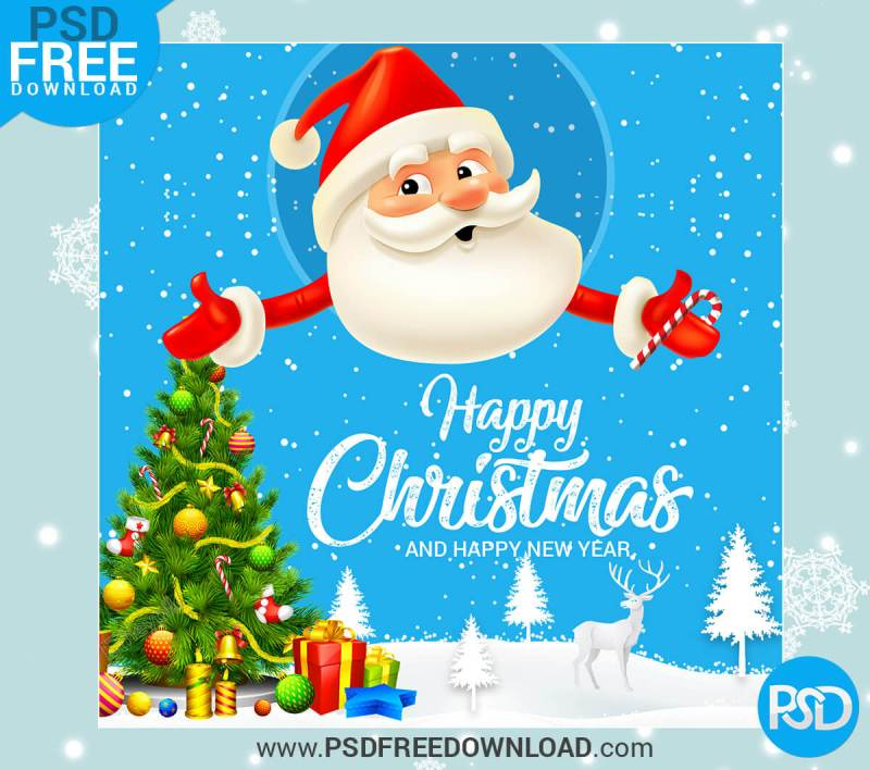 Merry Christmas Greeting Card Psd, psd free download, download psd, banner, graphic, vector banner, christmas facebook banner,