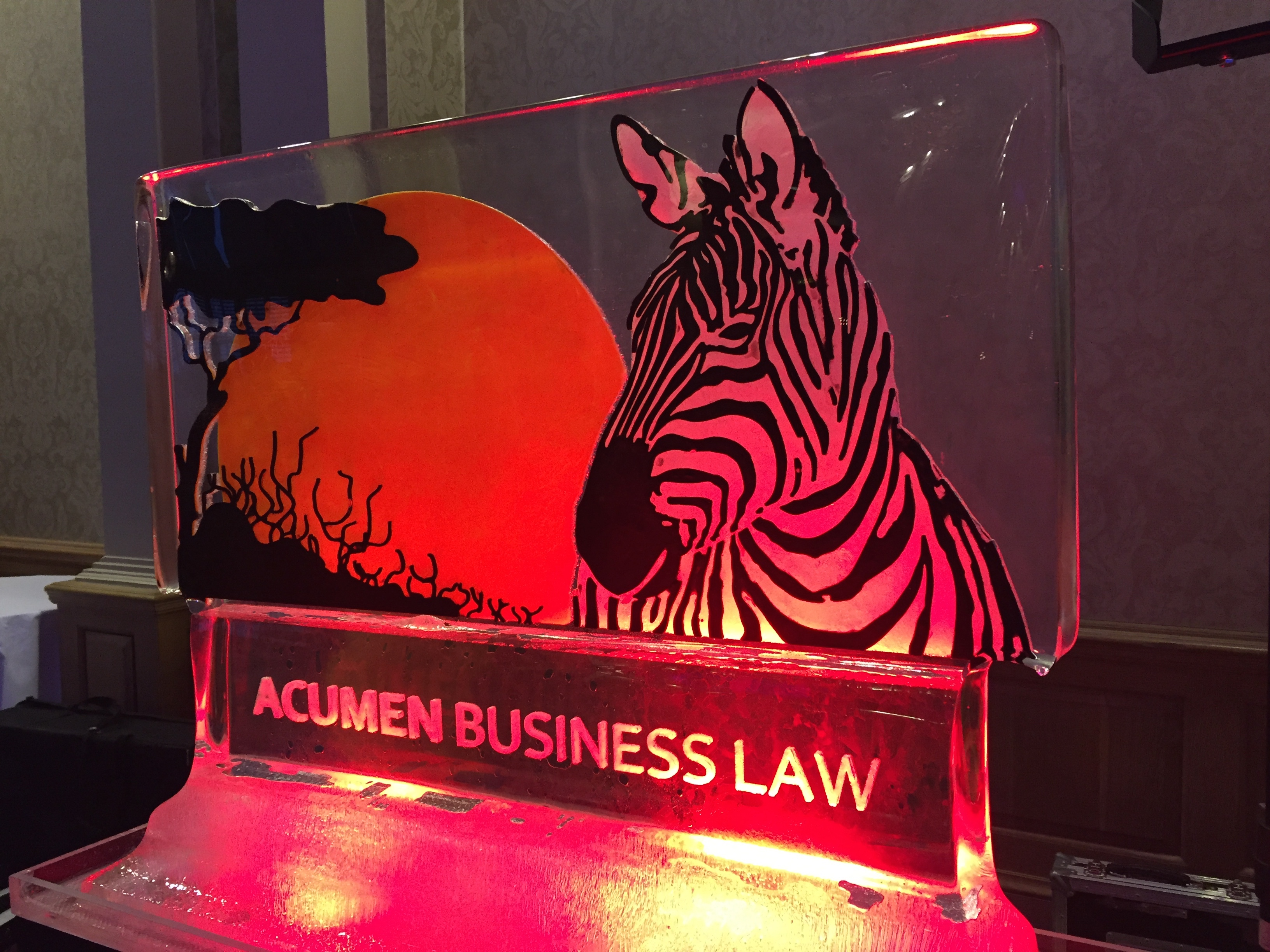 Acumen Business Law PSD Ice Art Ice Sculpture