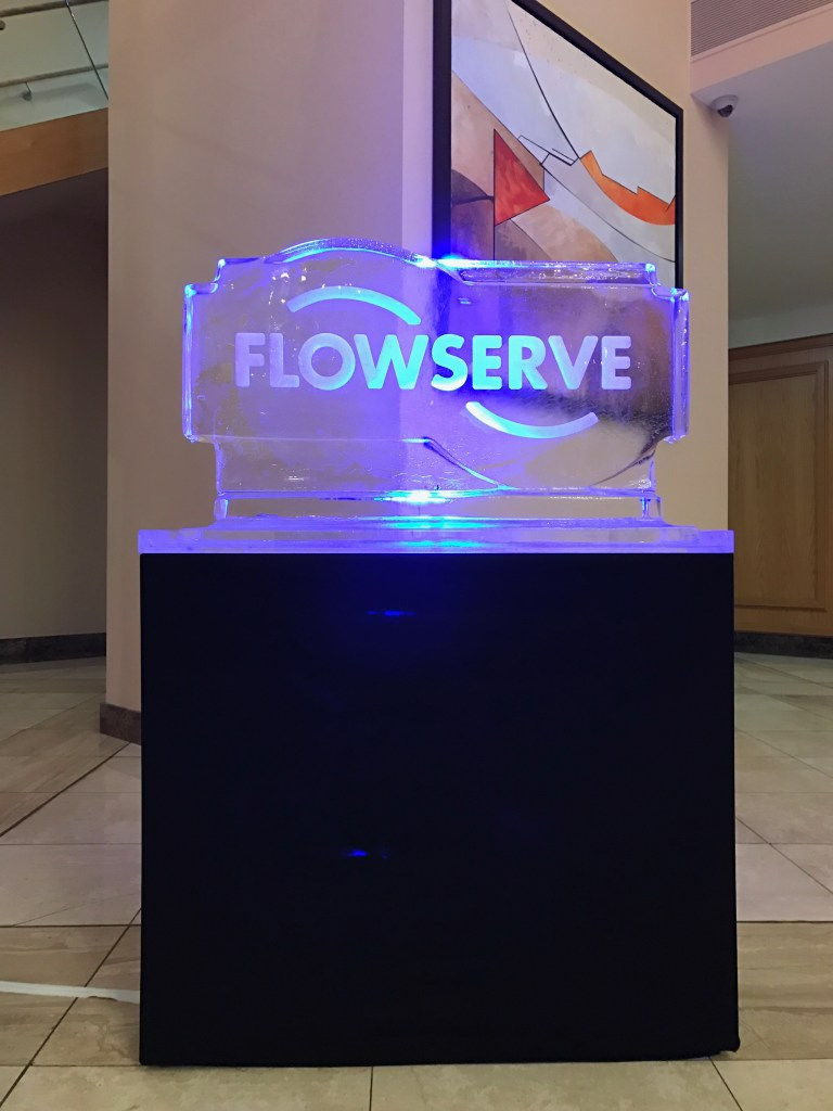 flowserve logo on lightstand