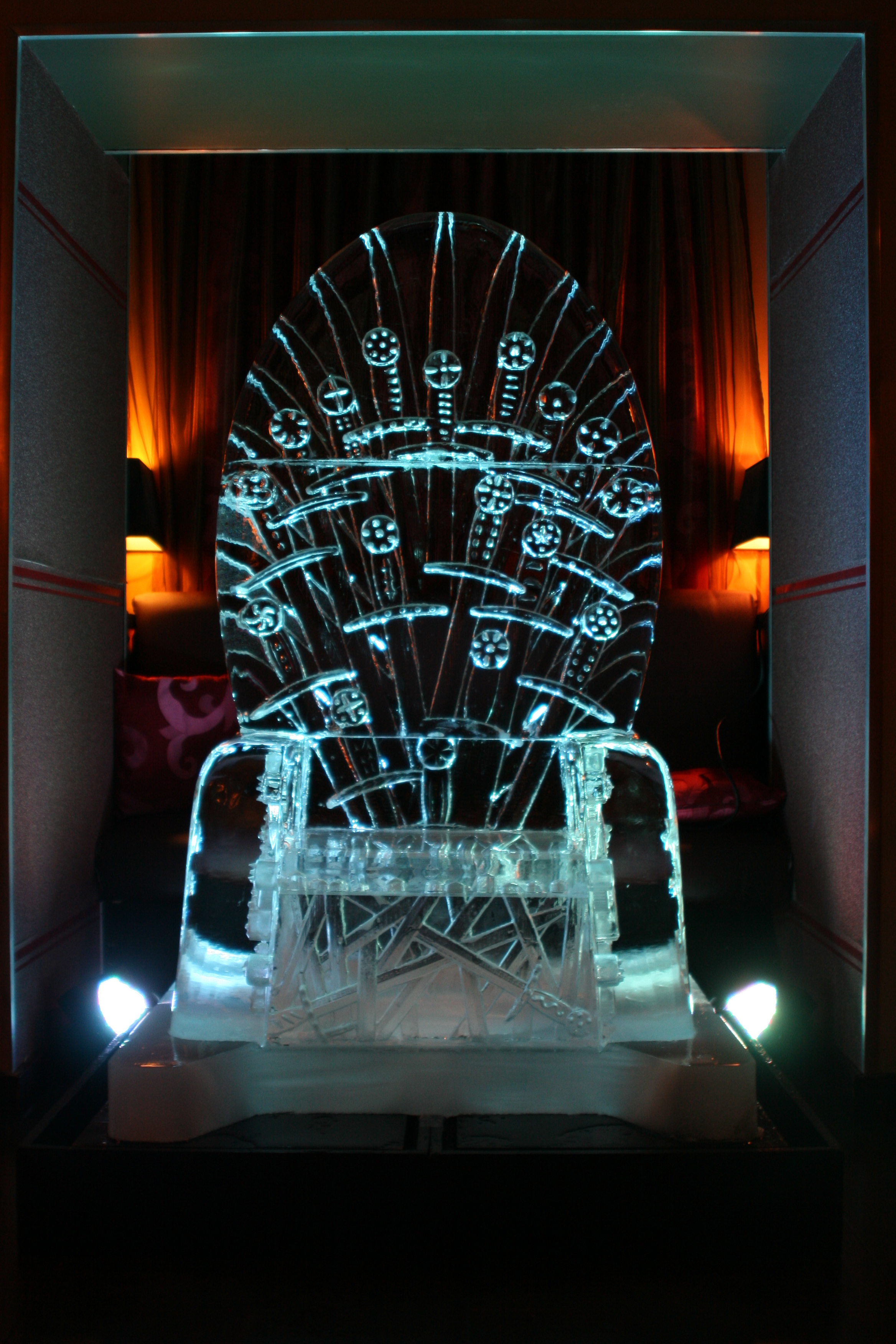 Game of Thrones Ice Sculpture