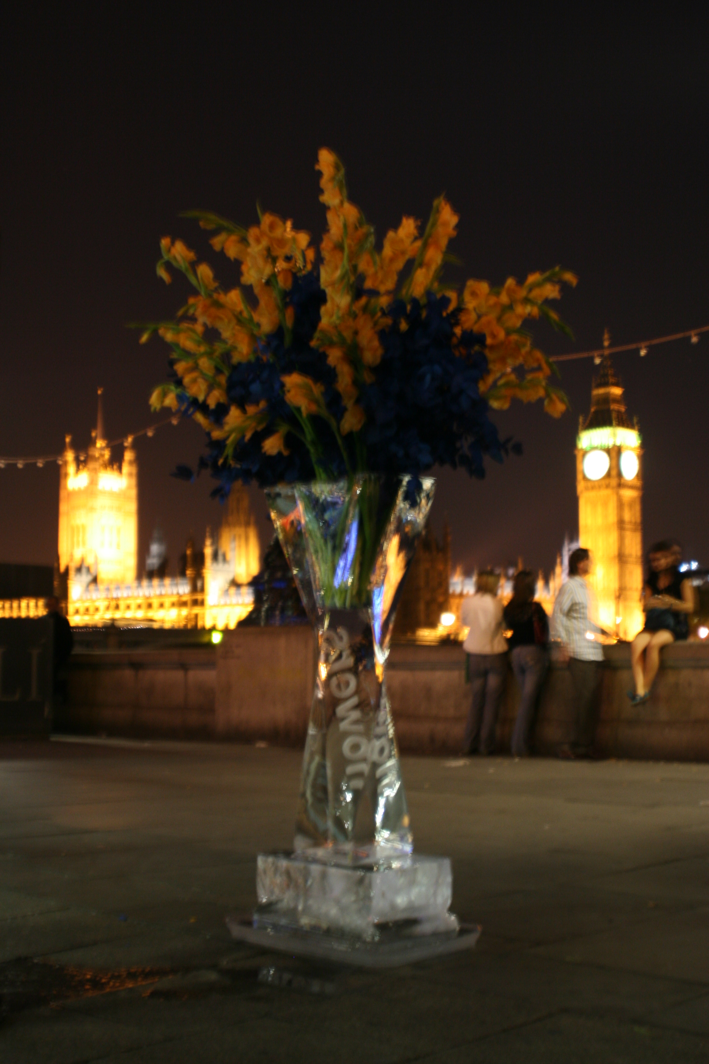 Ice Vase on the London Embankment