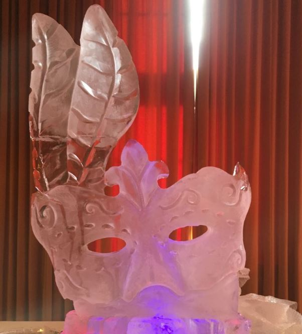 Mask Ice Sculpture