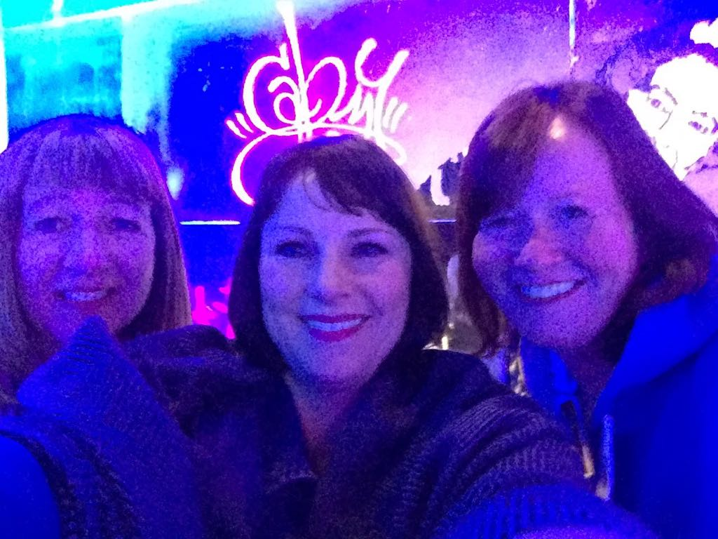 Nicky, Victoria and Gillian at the Belowzero Ice Bar London