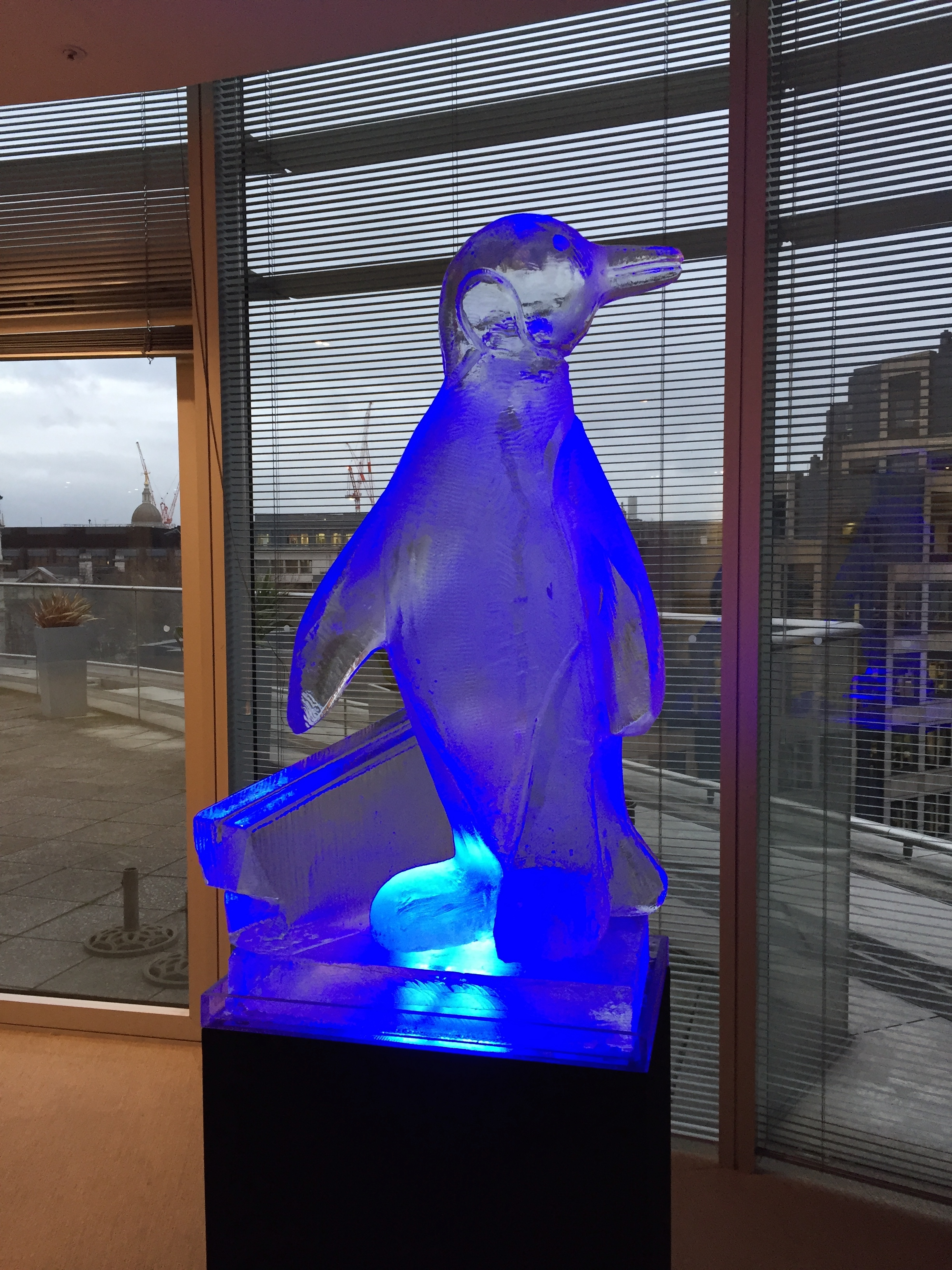 Penguin Ice Sculpture