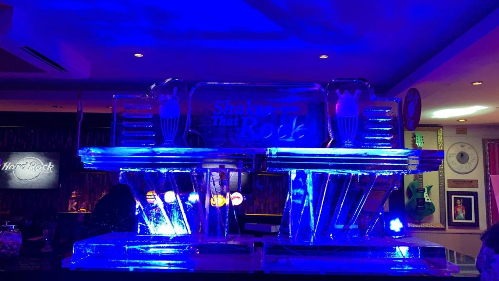 Hard Rock Cafe London New Menu Media Launch Ice Sculpture