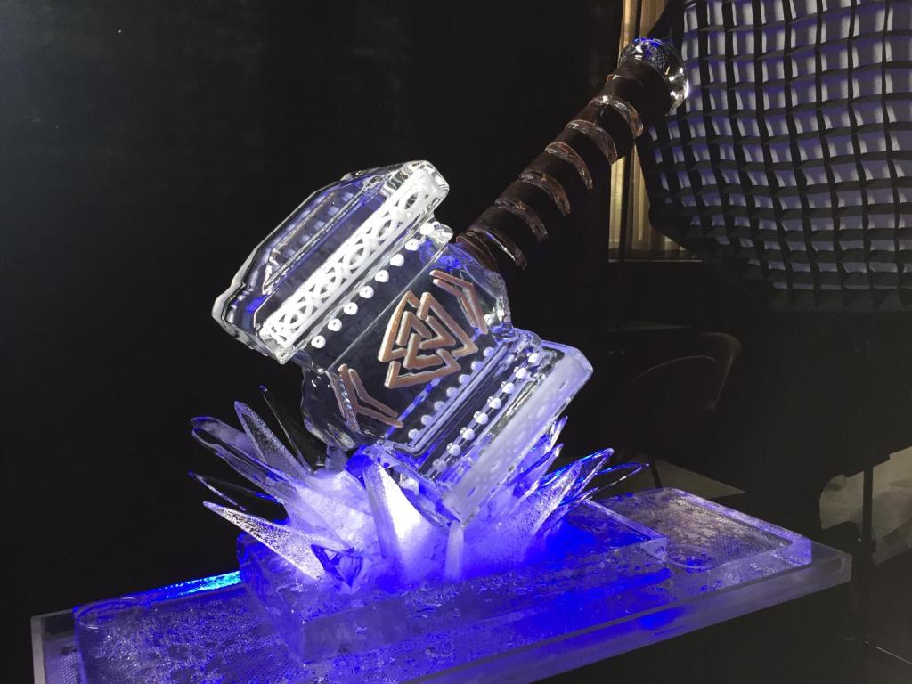 THORS HAMMER ICE BAR LONDON ICE SCULPTURE BY PSD ICE ART