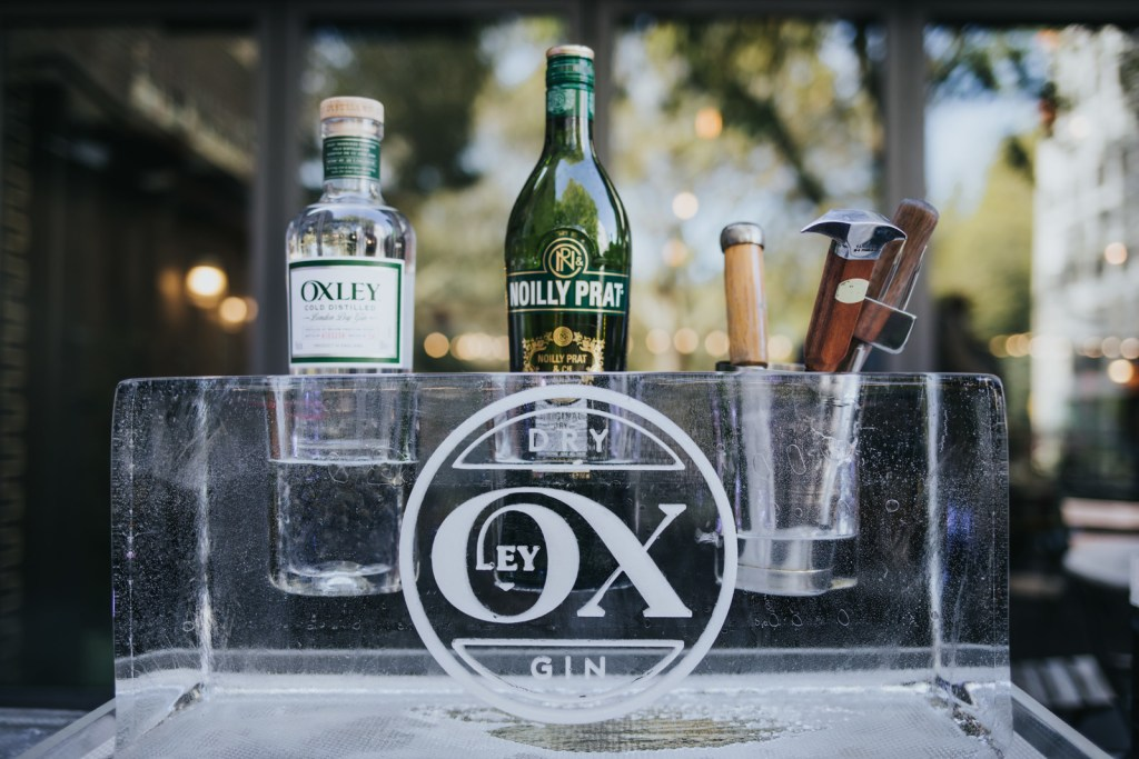 Oxley Gin Bottle Holder Made Of Ice