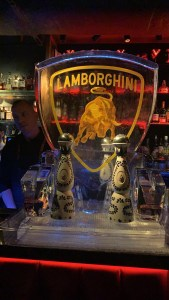 LAMBORGHINI ICE LUGE AT MNKY HOUSE