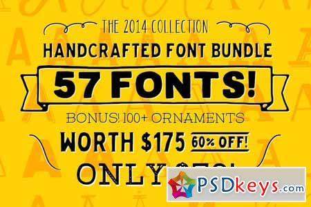Download 2014 Mega Font Bundle + Extras! 140515 » Free Download ...
