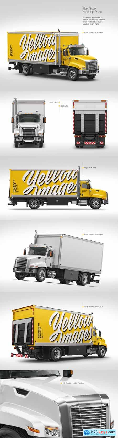 Download Box Truck Mockup Pack » Free Download Photoshop Vector ...