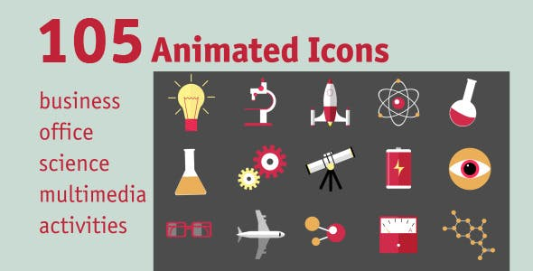 Videohive 105 Animated Icons 11592941