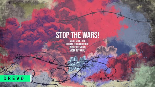 Videohive Stop the WARS 29398538