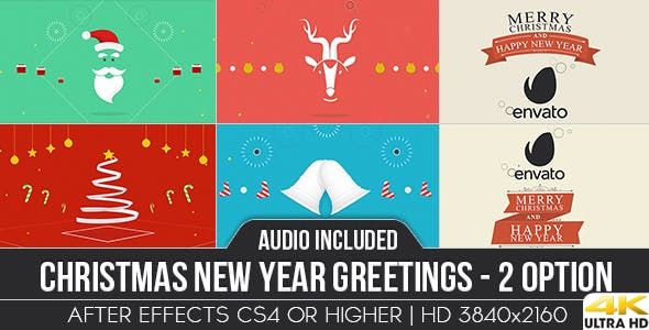 Videohive Christmas New Year Greetings 13605115
