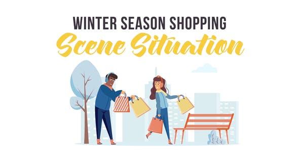 Videohive Winter season shopping - Scene Situation 29247075