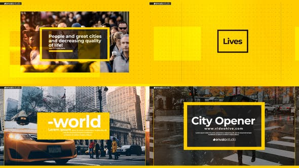 Videohive Minimal City Intro 27301278