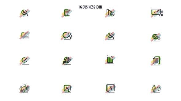 Videohive 16 Business Icon 28842164