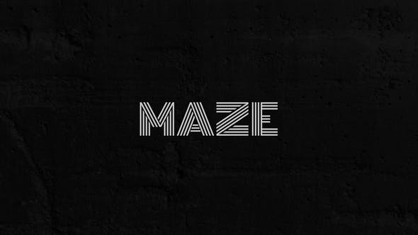 Videohive Maze - Animated Typeface 29299085