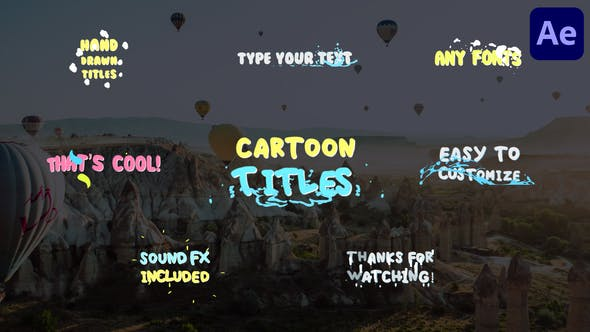 Videohive Cartoon Titles | After Effects 29401136