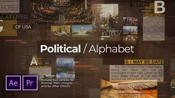Videohive - Political Alphabet. Historical Slideshow - 29169639