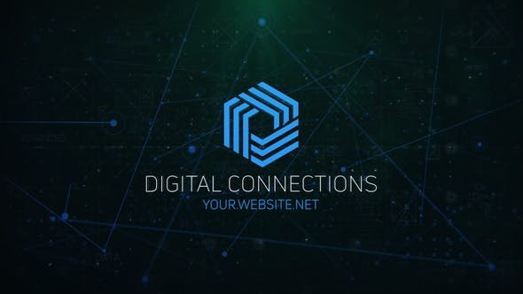 Videohive Digital Connections Logo 29340600
