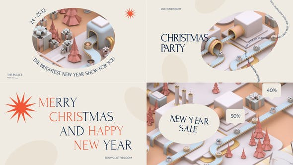 Videohive Christmas Factory Instagram Pack 29466145