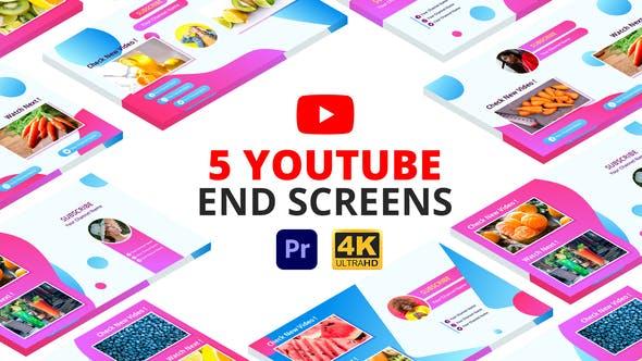 Videohive - YouTube End Screens   Premiere Pro MOGRT - 29175823