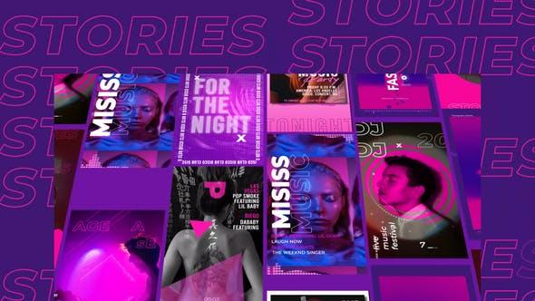 Videohive Purple Stories Instagram 29443542