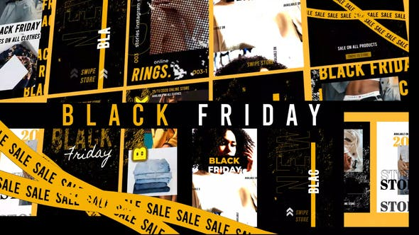 Videohive Black Friday Stories Instagram Gold 29443434